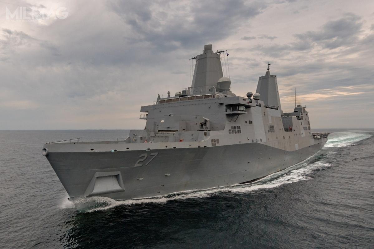 SSL-TM trafi naokręt desantowy USS Portland (LPD 27) typu San Antonio. Próby morskie jednostki zaplanowano naostatni kwartał 2019. Pierwotnie wysokoenergetyczny system laserowy miał zostać sprawdzony nabezzałogowym okręcie testowym Ex-Paul F. Foster SDTS / Zdjęcie: US Navy