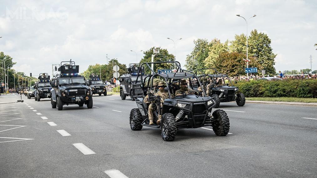 Swoją obecność zaznaczył też Oddział Specjalny Żandarmerii Wojskowej napokładzie kilku typów pojazdów / Zdjęcia: Ministerstwo Obrony Narodowej