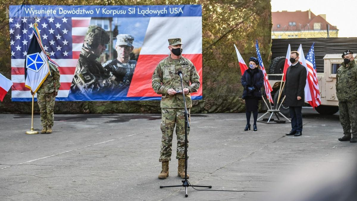 W Poznaniu swoją działalność zainaugurowało Wysunięte Dowództwo V Korpusu amerykańskich wojsk lądowych / Zdjęcie: Ministerstwo Obrony Narodowej
