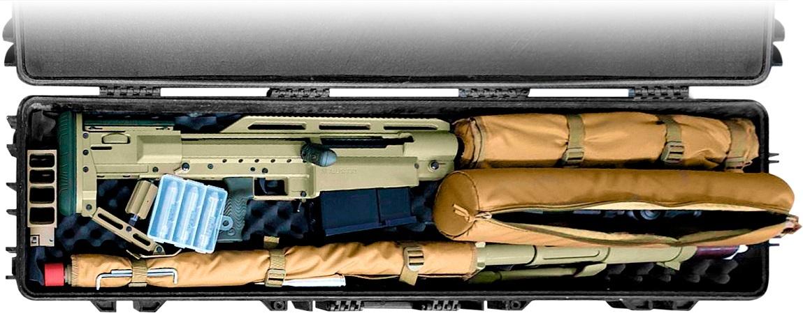 Alligator może być rozkładany dotransportu, analufie broni można mocować tłumik dźwięku. / Zdjęcie: Snipex