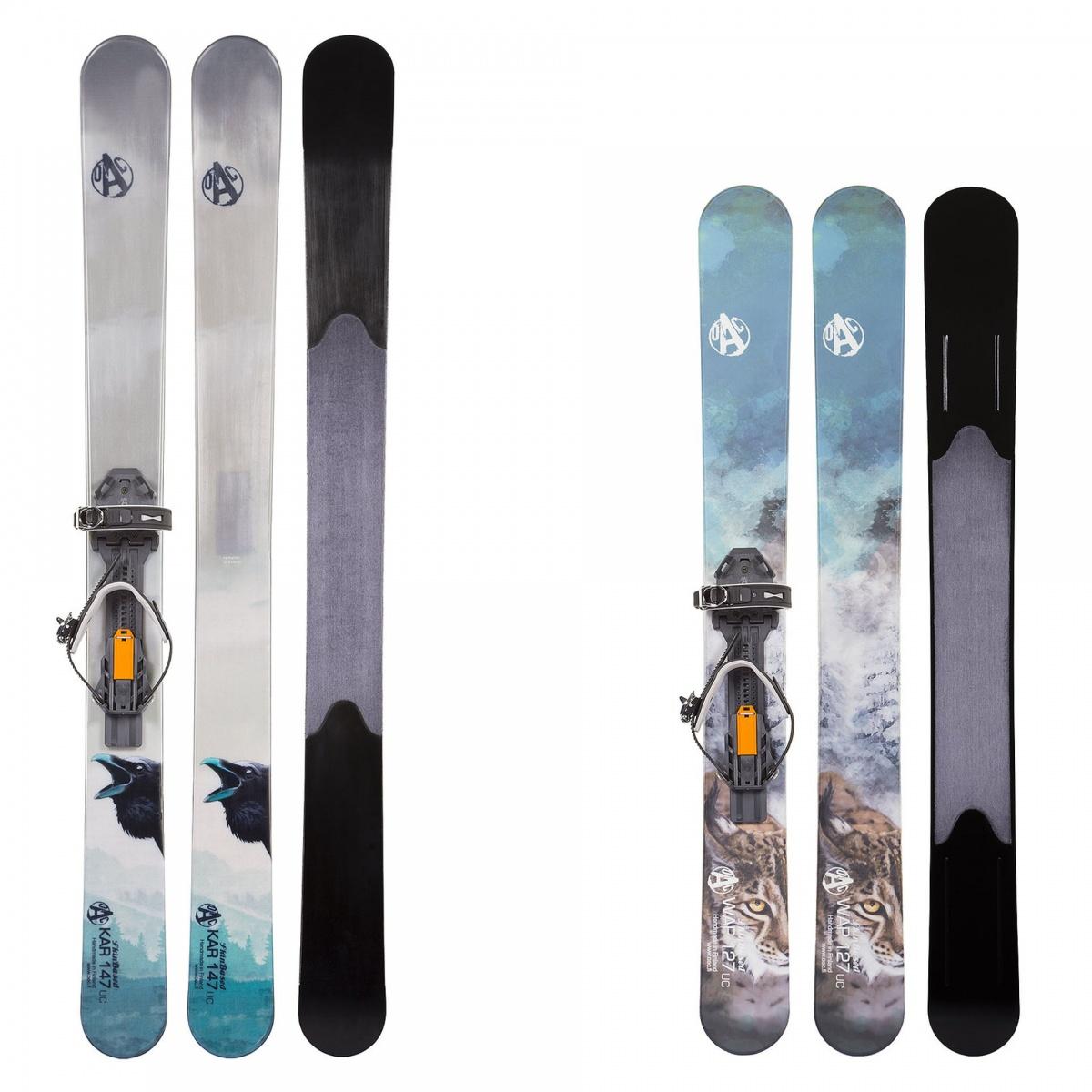 Narty trekkingowe OAC Skinbased dostępne są wróżnych długościach, kolorach iwzorach