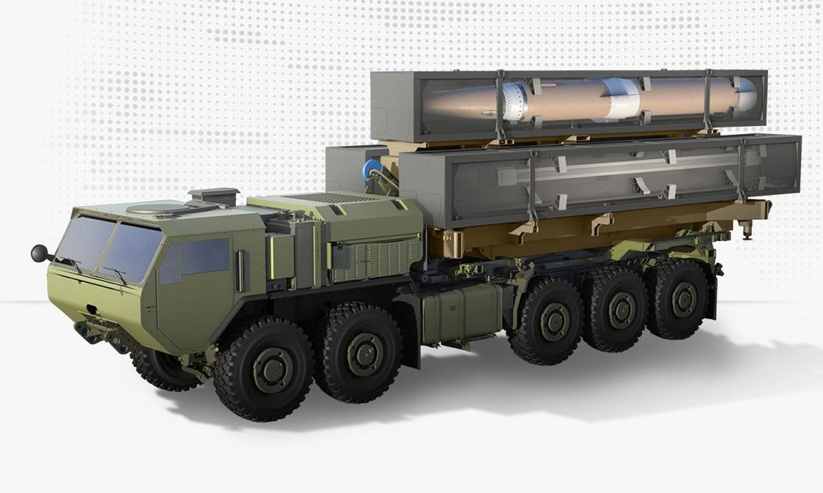 Pociski C-HGB będą wykorzystywane wlądowych systemach opracowywanych przezLockheed Martin wramach programu OpFires (Operational Fires). Ich uzupełnieniem będą m.in.naziemne pociski manewrujące średniego zasięgu zrodziny Tomahawk / Grafika: Lockheed Martin