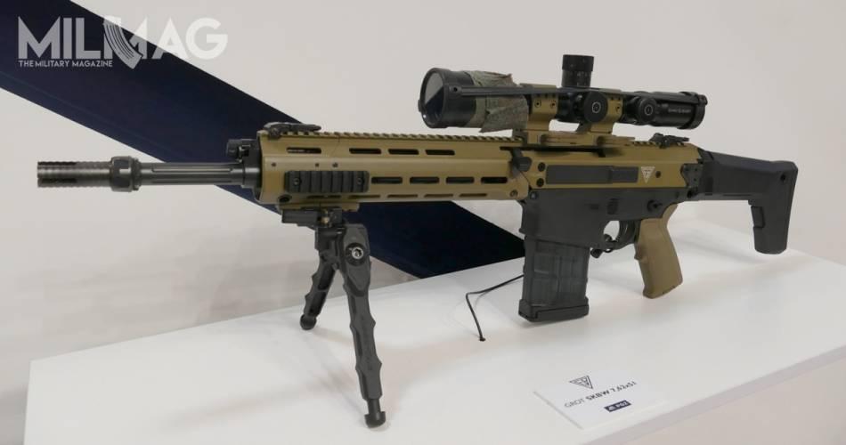 Łucznik oferuje także model z lufą długości 406 mm. Jest krótszy, lżejszy, bardziej poręczny i niemal nierozróżnialny od karabinka Grot C16/MSBS-5,56K. Taka broń jest w kręgu zainteresowań zarówno wojsk aeromobilnych i powietrznodesantowych, jak Wojsk Obrony Terytorialnej